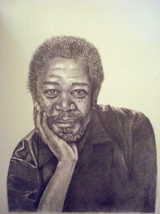 Morgan Freeman by hallelujah